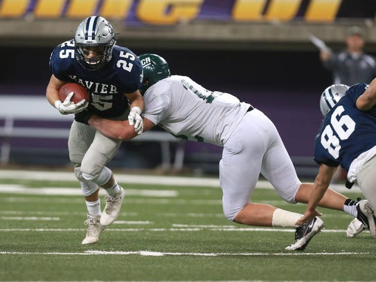 Pella's Austin Schulte is part of a deep group of defensive