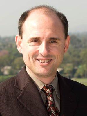 New Santa Anita track announcer Michael Wrona.