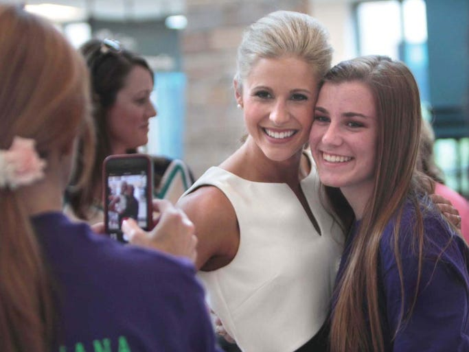 Miss Louisiana 2014, Lacey Sanchez, leaves for the Miss America Pageant on Sunday from the Monroe Regional Airport.