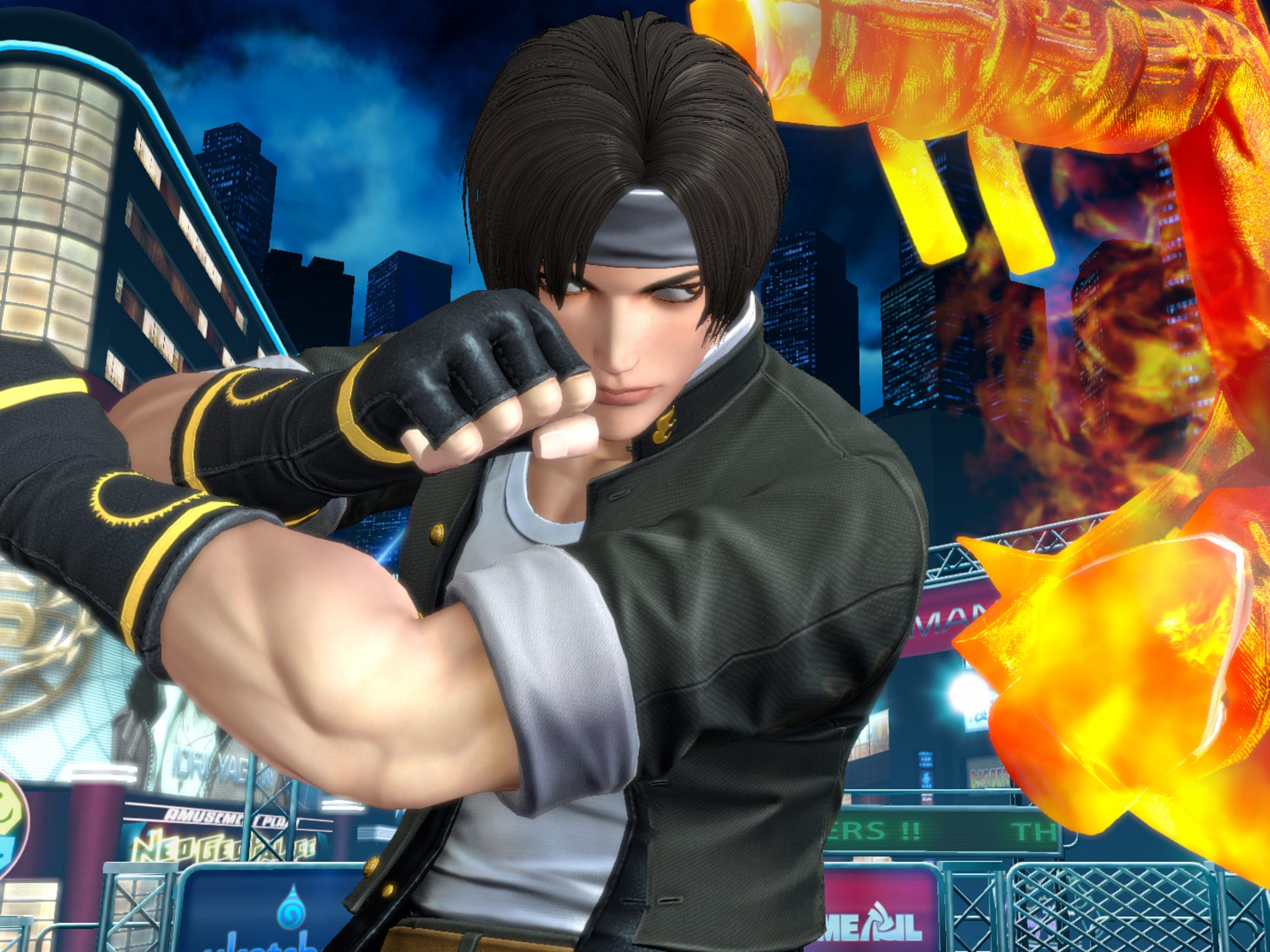 The King of Fighters XIV burns up with classic Kyo
