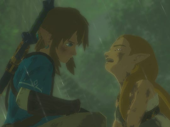 "A scene from Nintendo Switch launch game, ""The Legend of Zelda: Breath of the Wild."""
