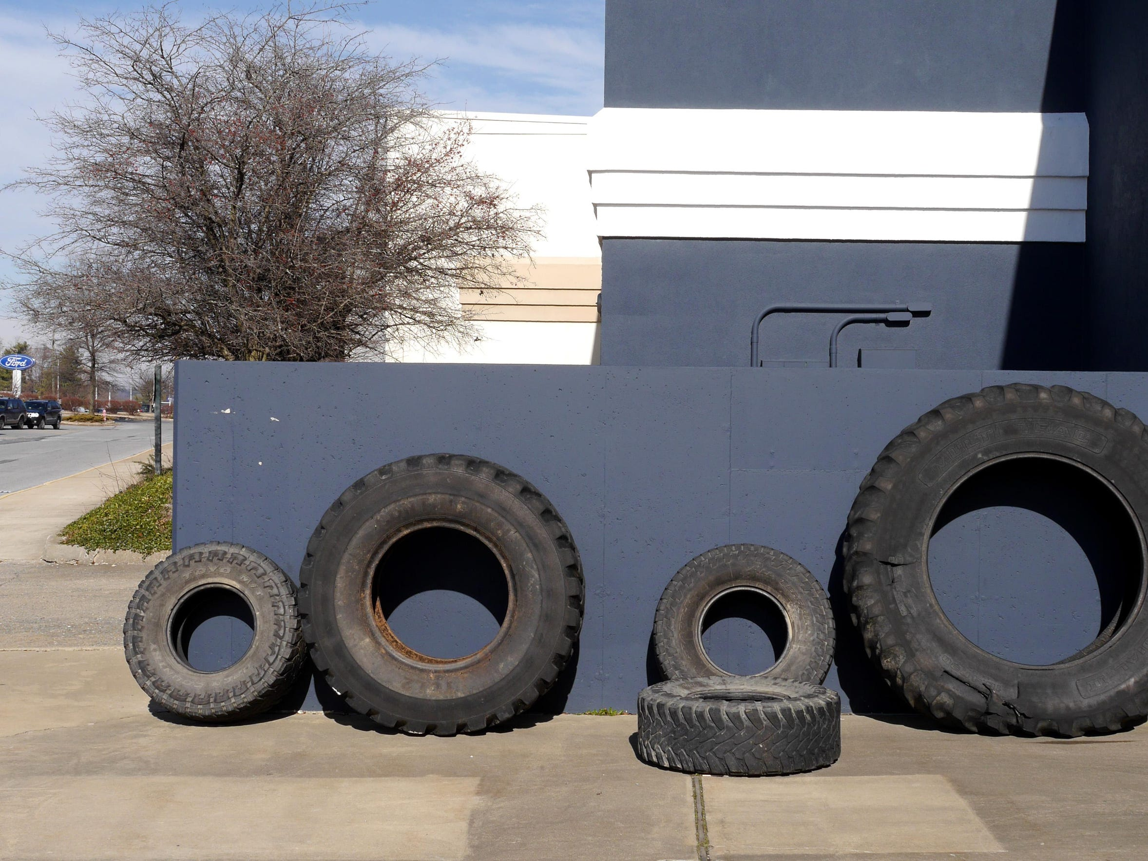 Wheels are turning: tires of different shapes and sizes