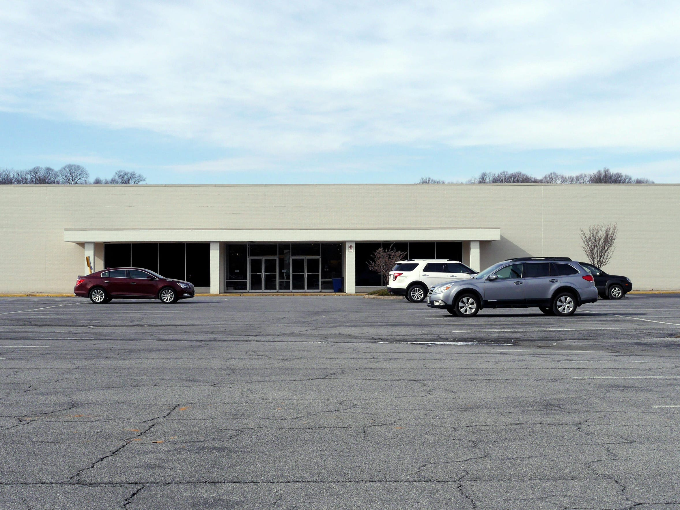 The back of JCPenney at The Staunton Mall Friday, Jan.