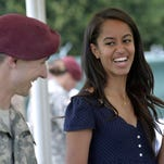 Malia Obama serves lunch at a NATO base in Italy. Fine. Now get Lena Dunham a soy latte and make it snappy.