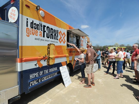 The I Don't Give a Fork truck participated in Harvest Ridge Winery's food truck competition in Marydel.