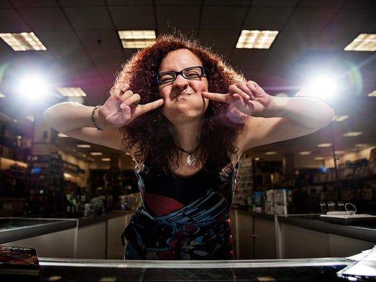 "Sarah Jacobs, 24 of Des Moines, makes a ""Harley Quinn"""