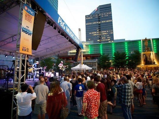 MidPoint Indie Summer concert series at Fountain Square are from 7 to 11 p.m. on Fridays.
