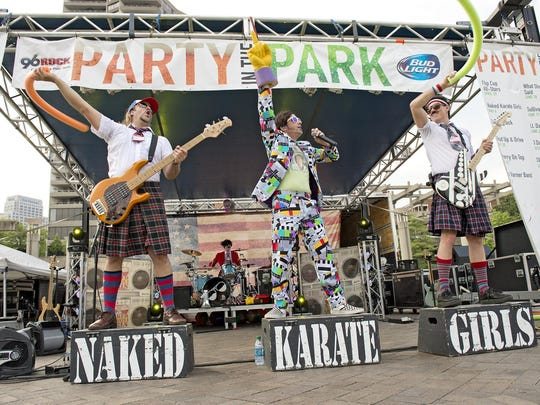 The Naked Karate Girls at Party in the Park.
