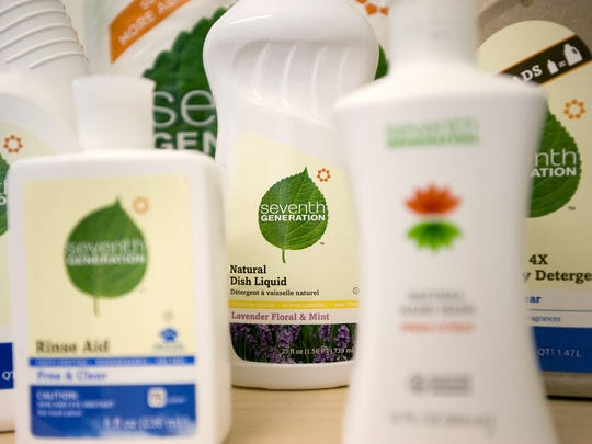 Seventh Generation products seen in the Burlington office in 2011.