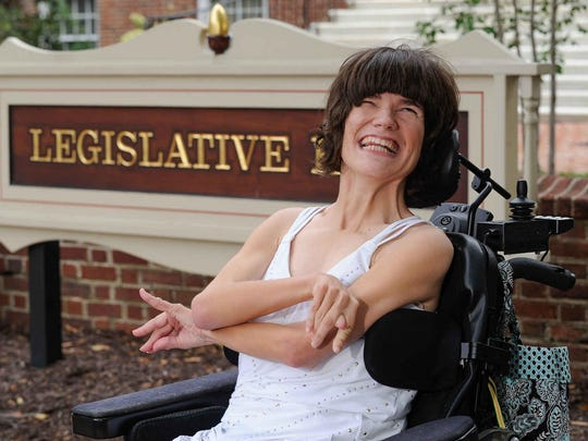 Style files candidate is Brigitte Hancharick photographed at Legislative Hall in Dover, Del.