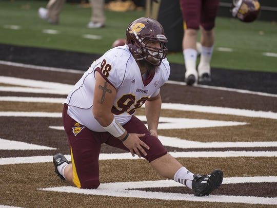 Central Michigan University redshirt senior defensive lineman Kelby Latta.