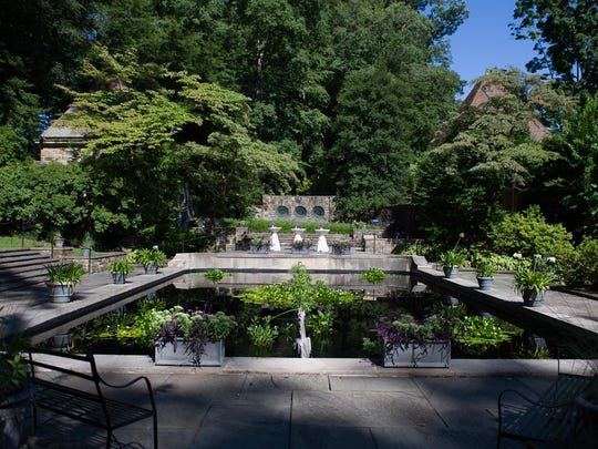 The wedding will take place at the reflecting pond at Winterthur.