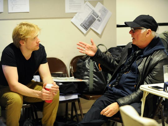 """Barry Levinson, the director of """"diner"""", works on his musical at the Delaware Theatre Company in Wilmington."""