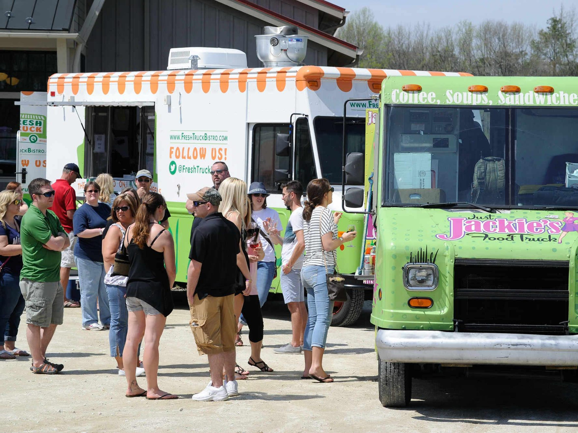 Food truck competition at Harvest Ridge Winery in Marydel.