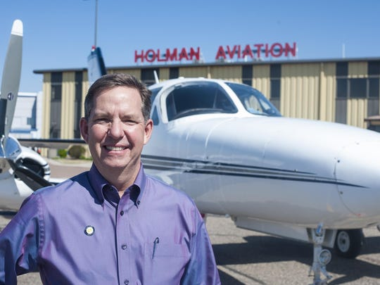 Dwight Holman, president of Holman Aviation, has worked at Great Falls International Airport for 26 years. He is pleased with airport improvements over the last 15 years.