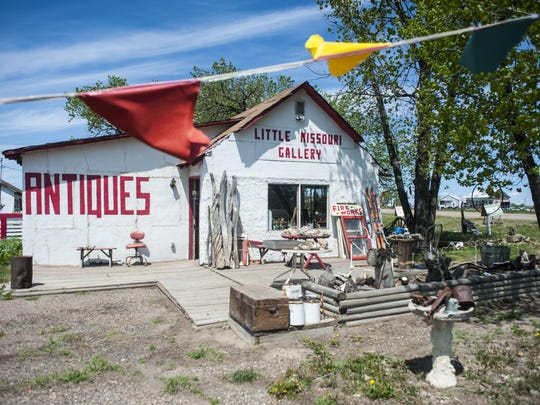 The Little Missouri Gallery at the edge of Alzada. On slow days Greg Bischoff counts cars heading to and from Rapid City, South Dakota on Highway 212.