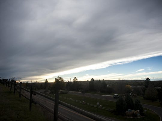 A western edge of a Chinook arch cloud formation as seen from Flag Hill in Great Falls on Oct. 14.