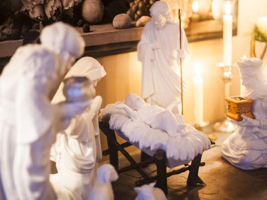 Van Tighem collects Nativity scenes and has one in