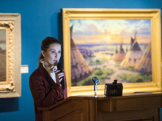 Emily Wilson, Assistant Curator of the C.M. Russell Museum, gives a presentation on nature's influence on art.