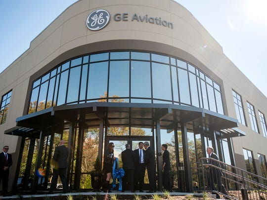 The grand opening of GE Aviation's South Asheville plant in 2014 featured a number of local notables including then-Gov. Pat McCrory and U.S. Rep Mark Meadows.