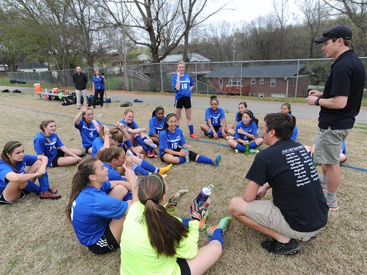 Beck Middle plays Greenville Middle soccer