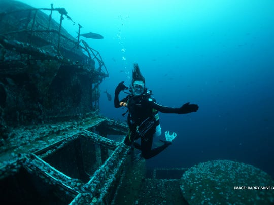 The USS Oriskany is on the Florida Panhandle Shipwreck Trail off Pensacola Beach.