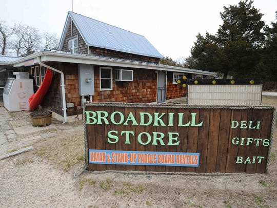 Broadkill Store in Broadkill Beach is shown on March 25. The store opens only seasonally in the community, where a massive beach-replenishment project is underway.