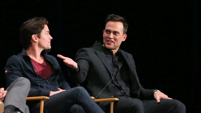 Matt Bomer (left) and actor Cheyenne Jackson attend The Paley Center for Media's 32nd annual PALEYFEST on Sunday in in Hollywood.