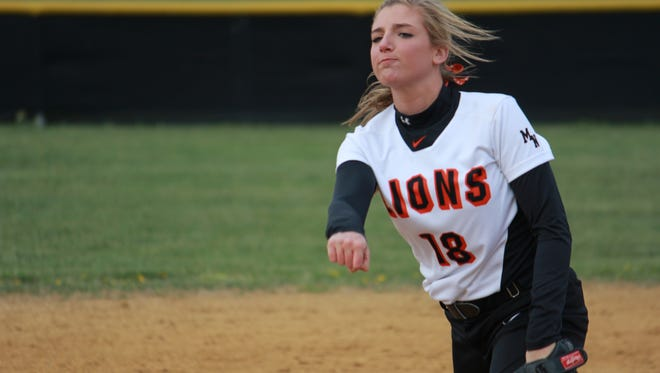 Riley Kernan of Middletown North struck out five in a 2-1 win over Middletown South Friday.