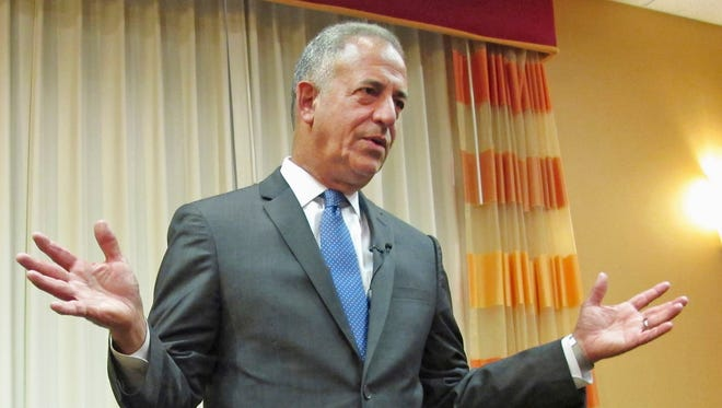 In this July 15, 2016, file photo, Democratic U.S. Senate candidate Russ Feingold talks in Middleton, Wis.