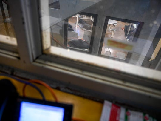 "In this image looking out from an office in ""C-Pod"","