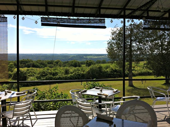 Stonecat Cafe offers an idyllic hilltop view of Seneca Lake.