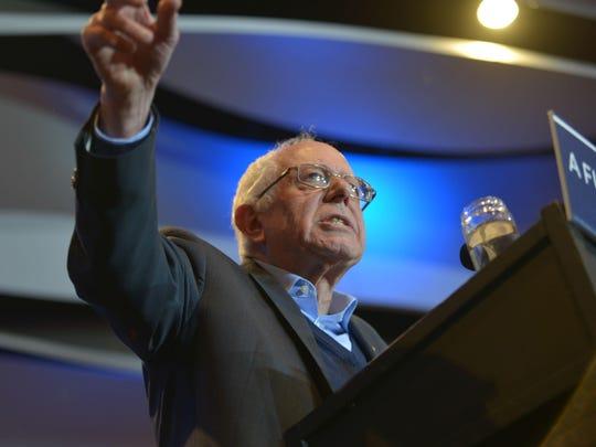 Sen. Bernie Sanders, I-Vt., speaks at a campaign rally in Cedar Rapids, Iowa, on Jan. 30.