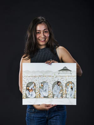 """Wrara Plesoiu, an artist from  Phoenix, created  """"Yuma Territorial Prison"""" for this project."""