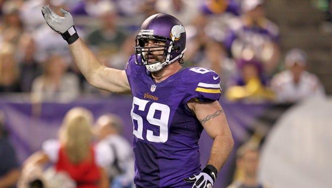 Vikings DE Jared Allen may be in a new uniform in 2014.