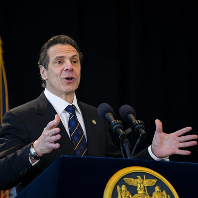 New York Gov. Andrew Cuomo speaks during an inaugural