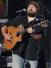 Zac Brown and the Zac Brown Band perform at Time Warner Cable Music Pavilion at Walnut Creek in Raleigh, North Carolina, in 2012.