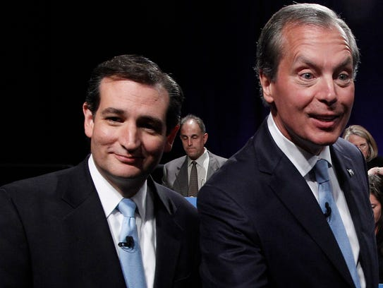 Ted Cruz and then-Texas lieutenant governor David Dewhurst
