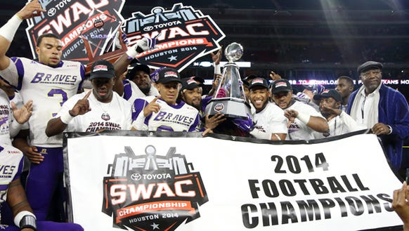 Alcorn State beat Southern to win the 2014 SWAC title