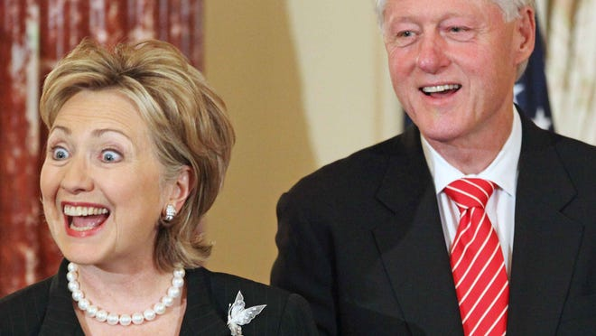 Hillary Clinton and her husband, former President Bill Clinton..