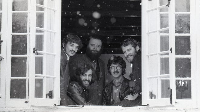 Members of The Band, from left, Rick Danko, Richard Manuel, Garth Hudson, Robbie Robertson and Levon Helm.