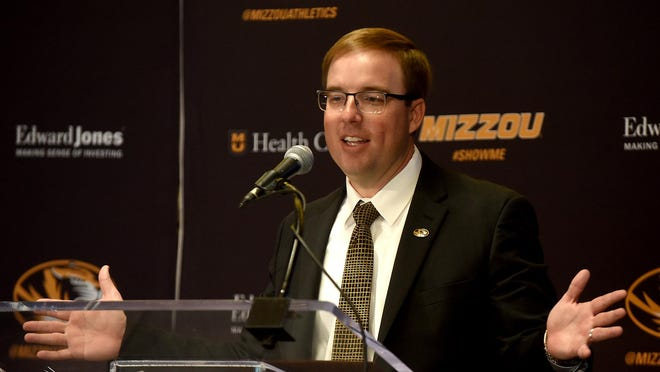 "Missouri head football coach Eliah Drinkwitz: ""We've been told we're playing Sept. 5, and until that changes, we're preparing like that's the case."""