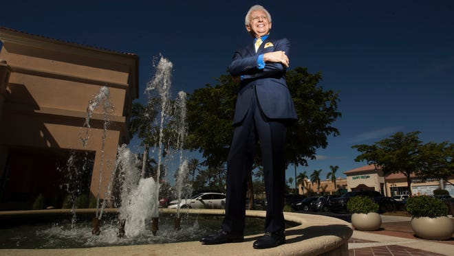 Giacomo Battaglia owns a clothing shop in the Gulf Coast Town Center. He is known as the mayor of the center, which is undergoing $5 million in renovations. The center was recently bought by a company and Battaglia is the spokeperson.