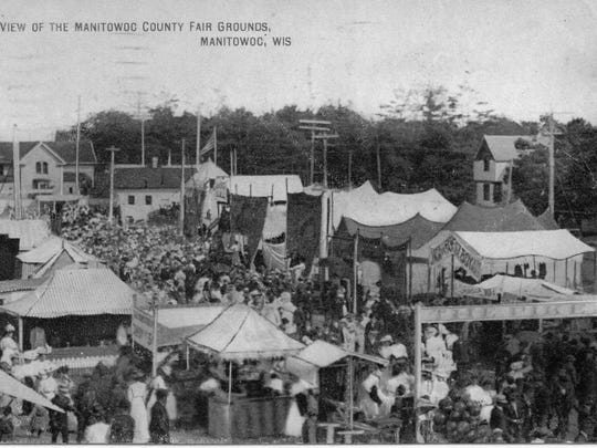 A view from Manitowoc County Fair in the early 1900s.