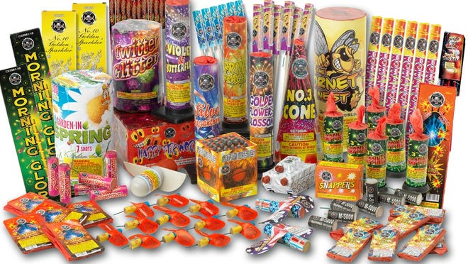 "The Jersey Shore fireworks package, sold in Pennsylvania stores by Sky King Fireworks, is described as ""everything you could need for a day at the shore."" One problem: Consumer fireworks are illegal in New Jersey."