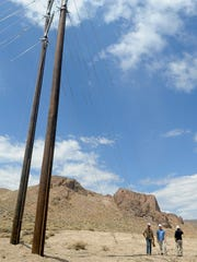 As part of an NV Energy project to improve service in Lyon County, new power lines are being installed between Smith and Mason valleys.