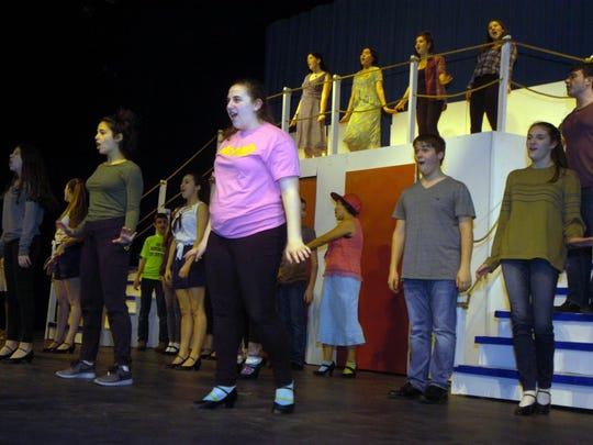 "The cast of ""Anything Goes"" wraps up one of its last rehearsal days before the production open to audiences March 17-19."