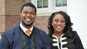 Southern Miss students Jeremy Moore, left, and Kristen Dupard will attend the Clinton Global Initiative University in March.