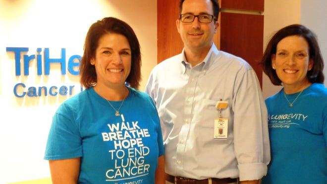 Lungevity Breathe Deep Cincinnati 5K to end lung cancer organized by Katie Sapp and her sister Lisa Gallagher hits home for Dr. Andrew Parchman, medical oncology, Tri-Health Cancer Institute. The event takes place Nov. 4.