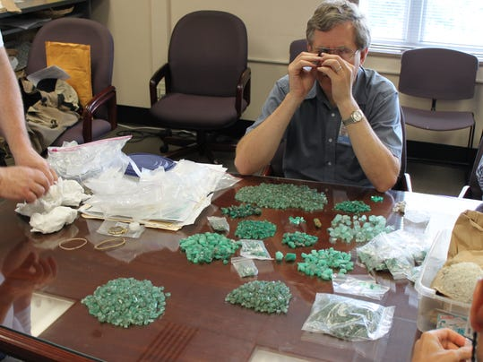 Fake emeralds